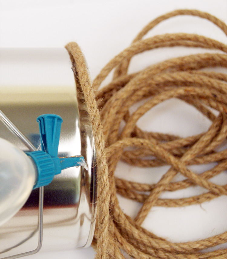 DIY Bloempot met touw