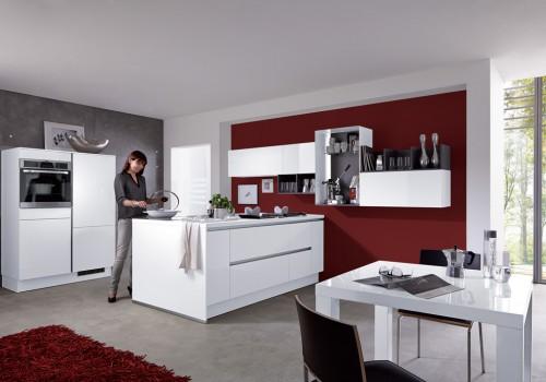 Culineo keukens bij bouwhof keuken showroom in zoetermeer - Centraal koken eiland ...